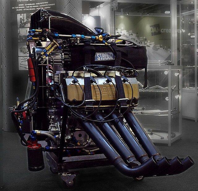 двигатель Top Fuel Dragster нитрометан